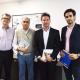 Raquelson Lins, chefe de Gabinete do CAU/BR; Haroldo Pinheiro, presidente do CAU/BR; Ramon Giraldi e Lucas Castanheira, representantes do Núcleo Casa
