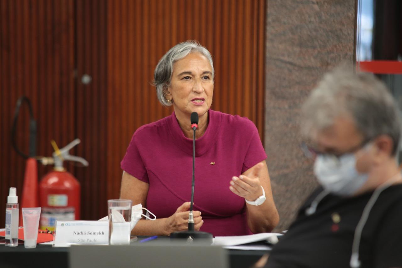 A arquiteta Nadia Somekh é a primeira mulher a ocupar a presidência do CAU-BR.   Divulgação/CAU-BR
